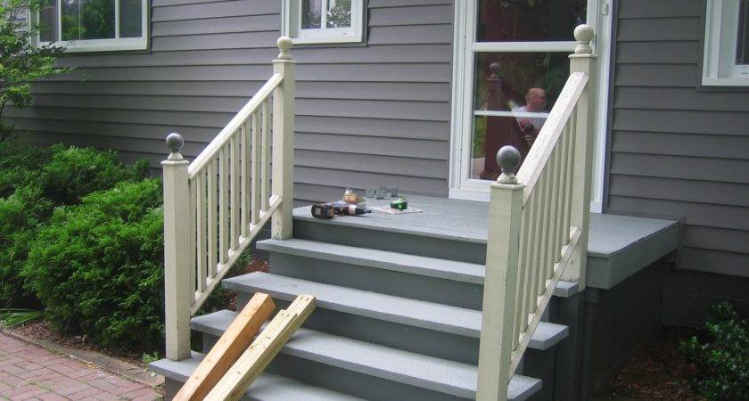 Front Porch Railing Design Ideas Also Railings