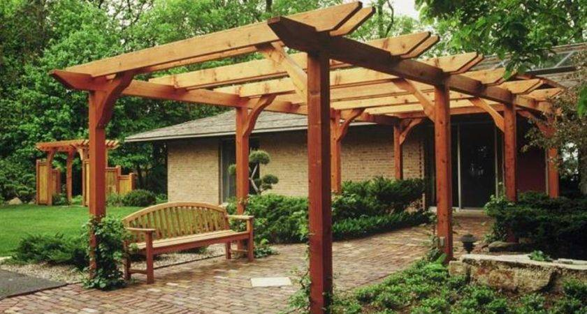 Front Yard Japanese Pergola Designs Beautiful