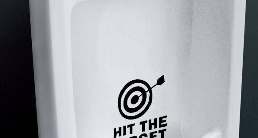 Funny Hit Target Toilet Seat Vinyl Decals Removable