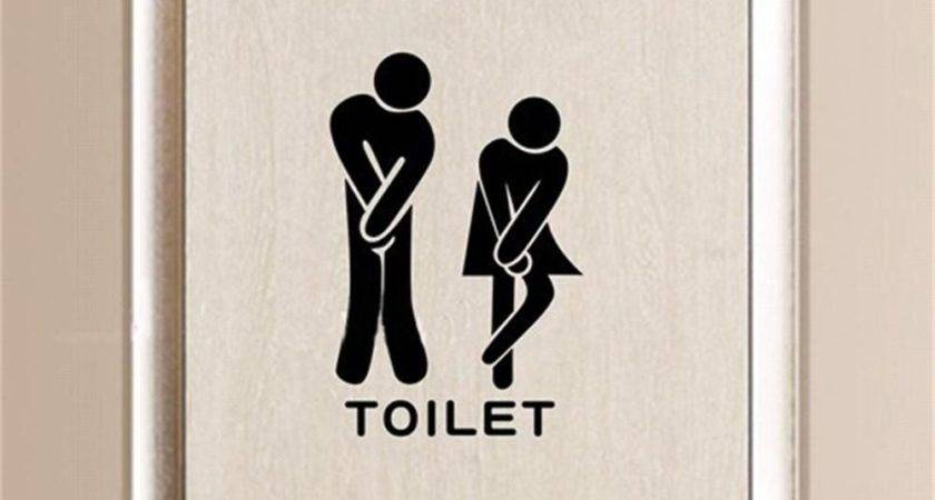 Funny Wall Decal Bathroom Decoration Toilet Rules Art
