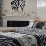 Furniture Bedroom Zebra Print Upholstery Fabric