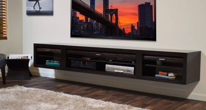 Furniture Brilliant Floating Stand Home