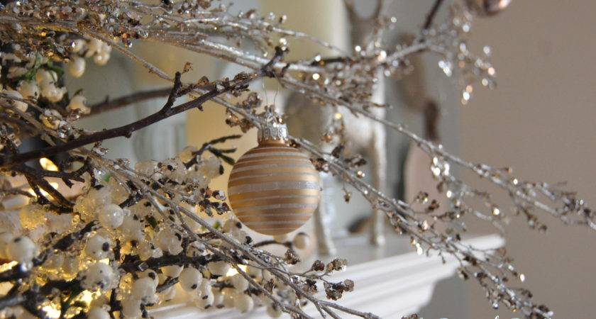 Furniture Design White Silver Christmas Decorations