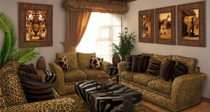 Furniture Traditional Living Room Leopard Print