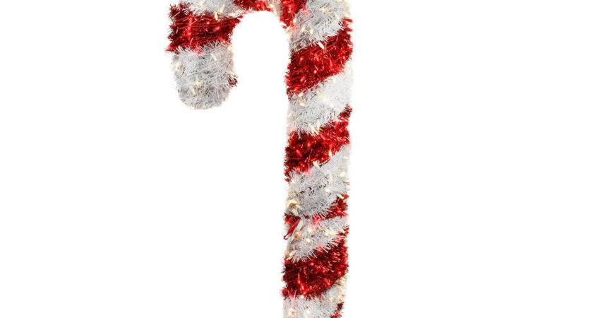 Giant Commercial Grade Lighted Candy Cane Yard Art
