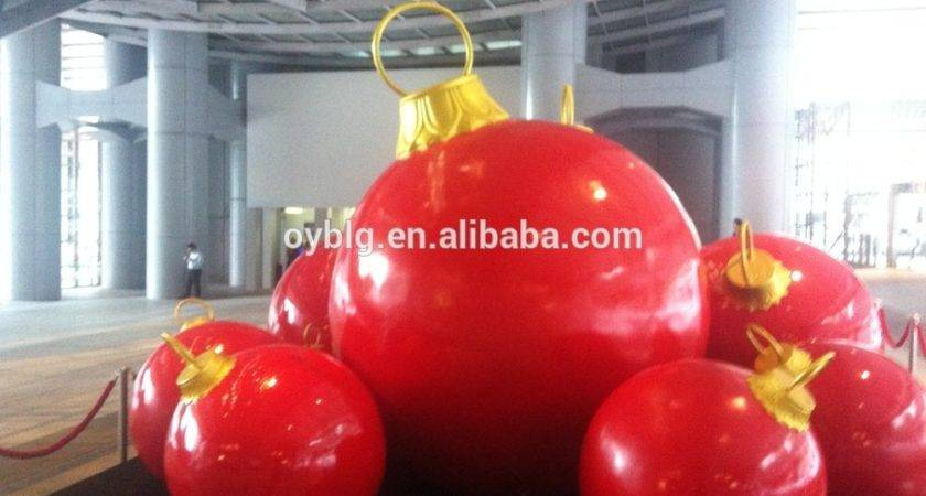 Giant Outdoor Christmas Ball Decoration