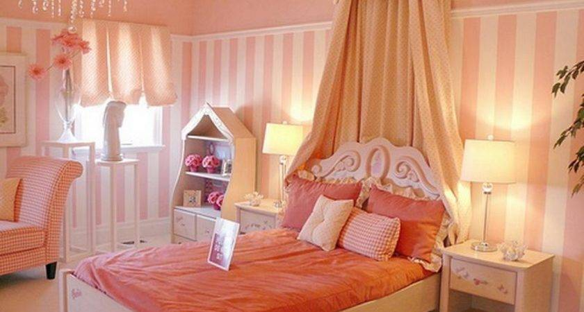 Girls Room Paint Ideas Colorful Stripes Beautiful