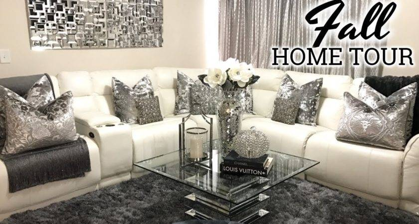 Glam Fall Home Tour Living Room Dining