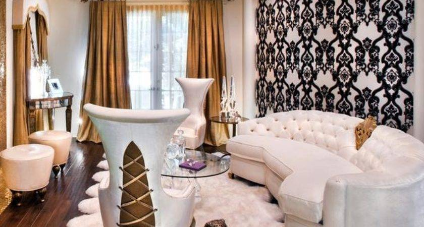 Glamorous Gold Accented Living Room Hgtv