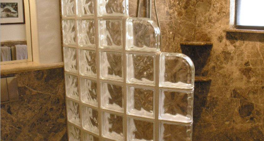 Glass Block Walk Showers Sims Remodeling