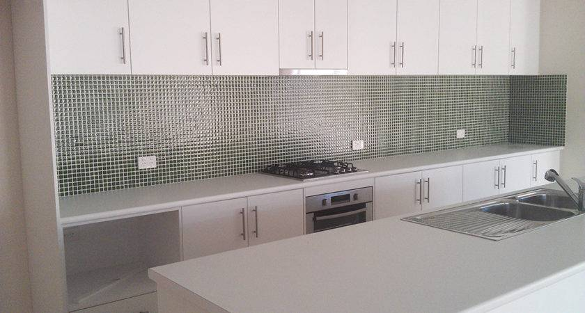 Glass Tiles Kitchen Splashback