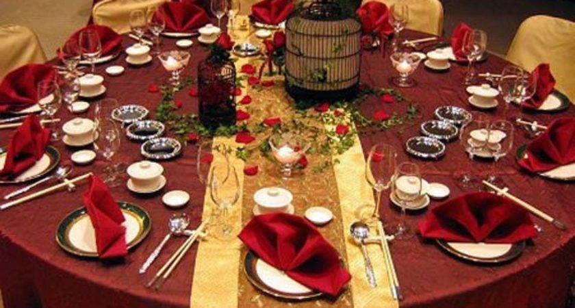 Goes Wedding Beautiful Red Gold Table
