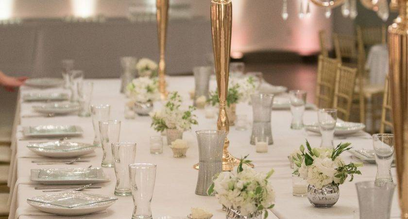 Gold Candelabra Dining Table Centerpieces