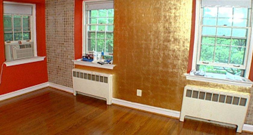 Gold Leaf Accent Wall Hgtv
