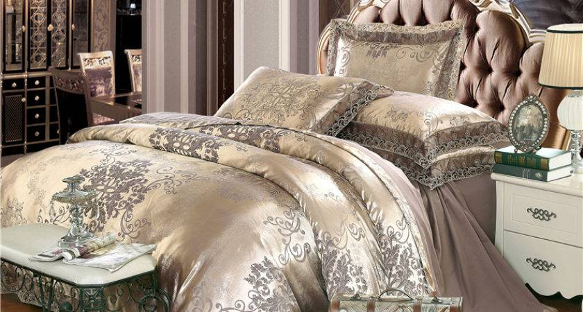 Gold Silver Comforter Sets Waterford
