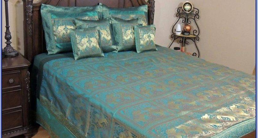 Gold Teal Bedding Phoenix Melrose Cal
