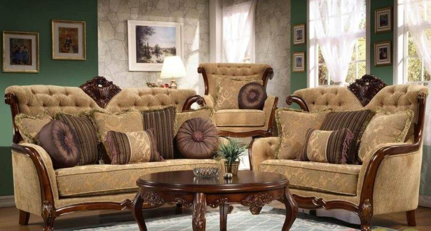 Gold Traditional Living Room Furniture