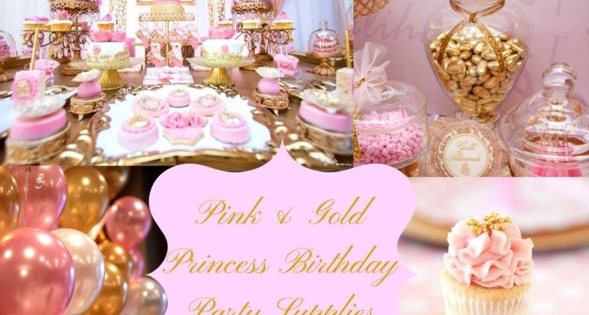 Gold White Party Decorations Inspirational Pink