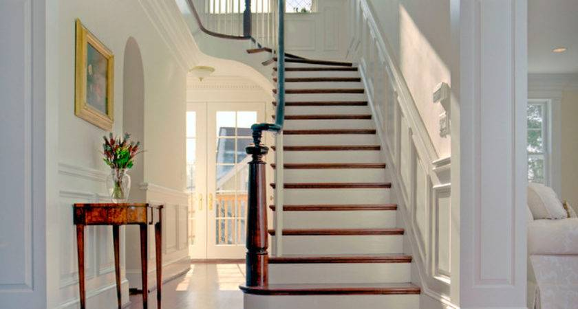 Grand Foyer Traditional Staircase Metro