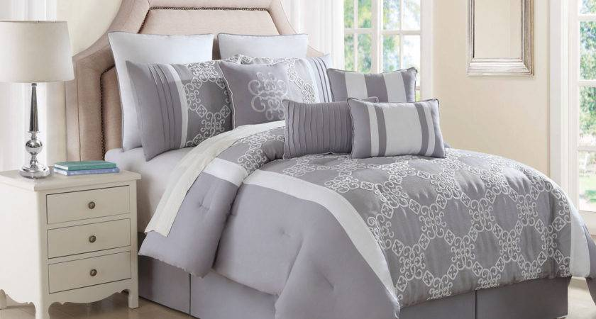 Gray Comforter Sets Blue