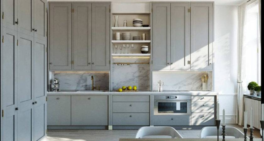 Gray Kitchen Cabinets Contemporary Esny