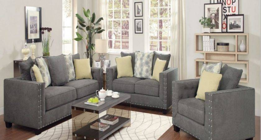 Gray Living Room Furniture Sets Fabric Ideas Dining