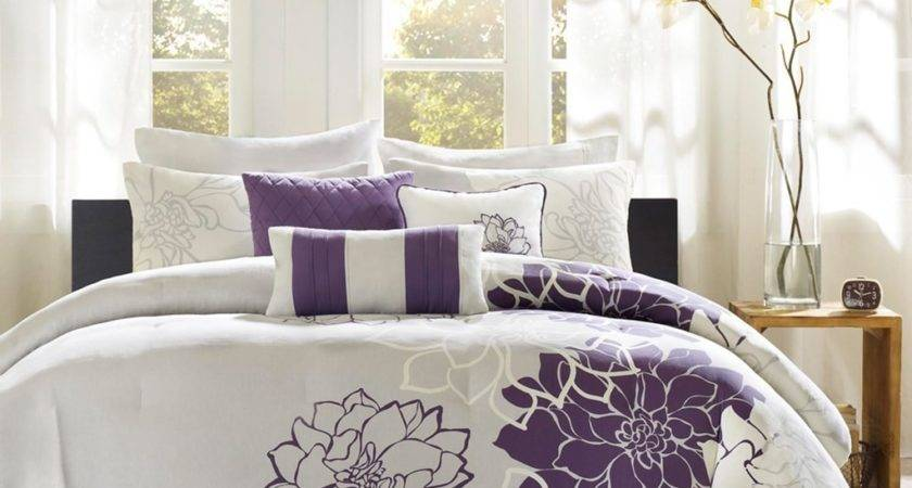 Gray Purple Bedding Product Choices Homesfeed