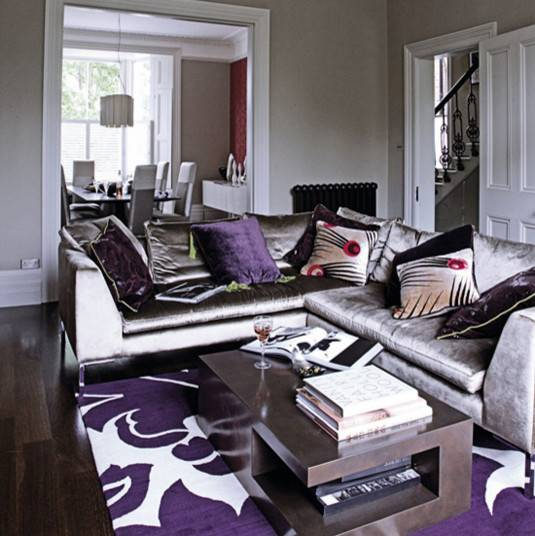 Charcoal And Purple Living Room Loving This Purple Living Room Living Room Grey Living Room Inspiration