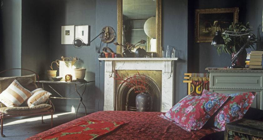 Gray Red Asian Traditional Bedroom Cool Ideas