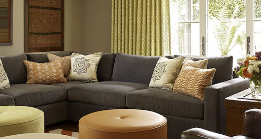 Gray Sectional Contemporary Living Room Artistic