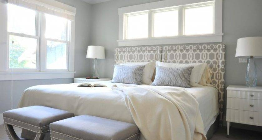 Gray Trellis Headboard Contemporary Bedroom Benjamin