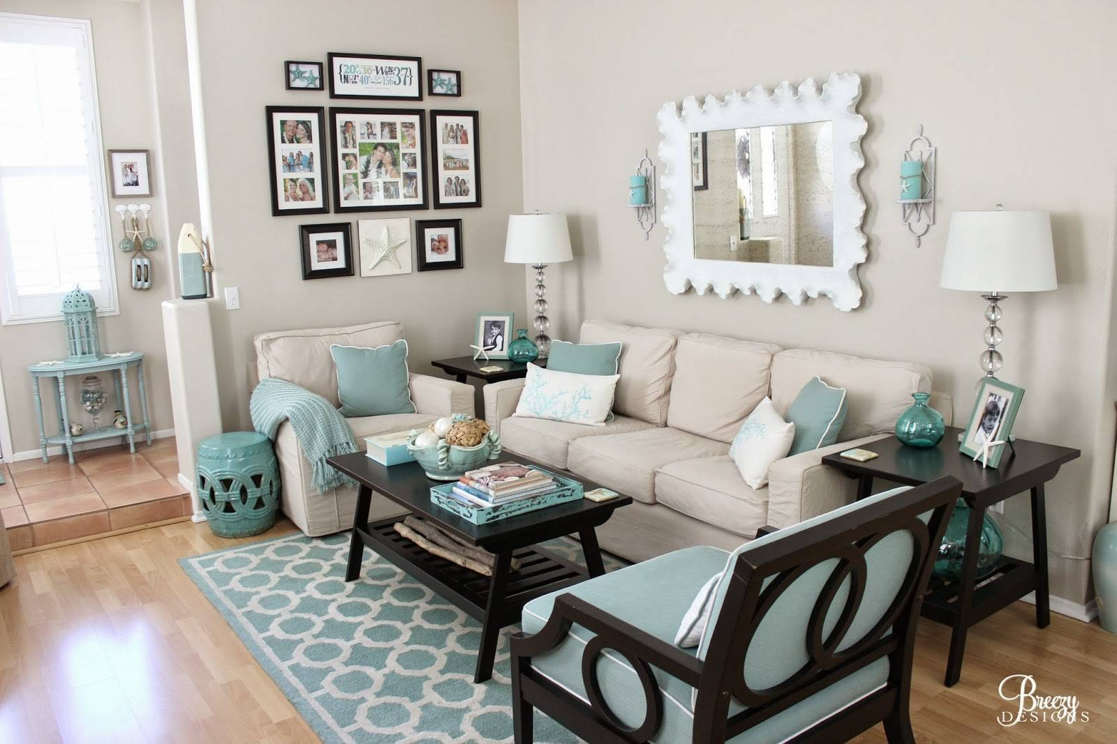 Gray Turquoise Living Room Decorating Ideas Barb Homes