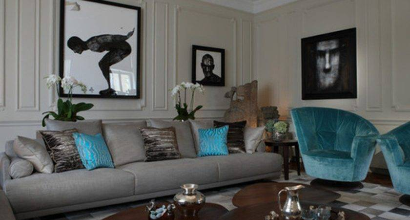 Gray Turquoise Living Room Ideas Home Decorations