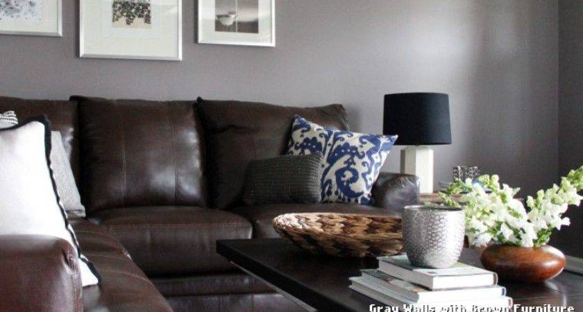 Gray Walls Brown Furniture Classique Chic
