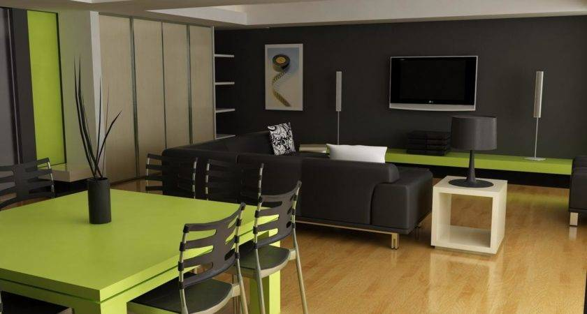 Green Black Living Room Cool