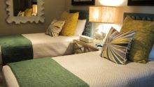 Green Gold Transitional Bedroom Twin Beds Hgtv