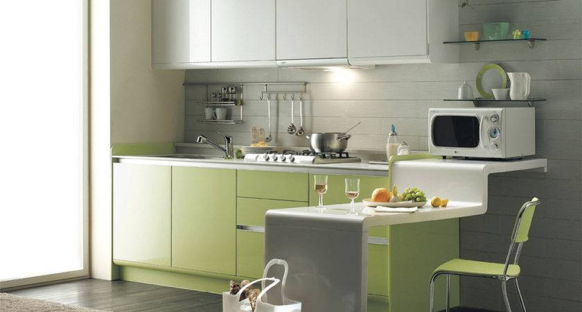 Green Kitchen Modern Interior Design Ideas White