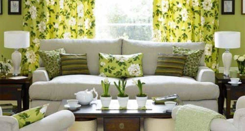 Green Living Room Decorating Ideas Interior Fans