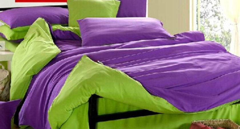 Green Purple Comforter Sets