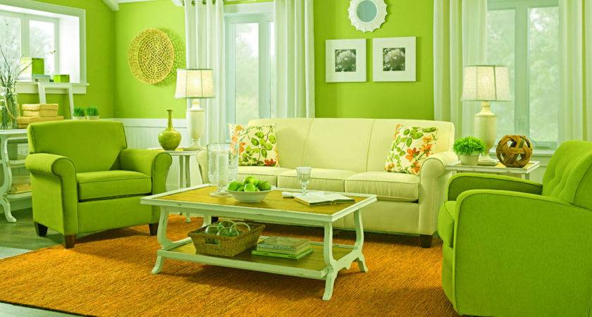 Green Themed Living Room Comfortable Rest