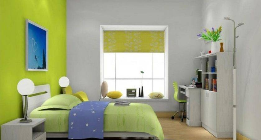 Green Walls Boys Room House