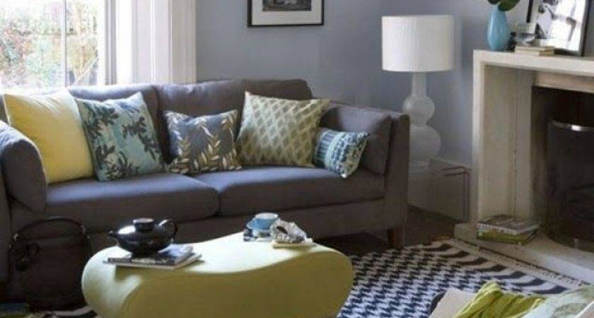 Grey Black Blue Living Room Home Decorations