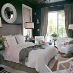 Grey Black White Bedroom Grasscloth