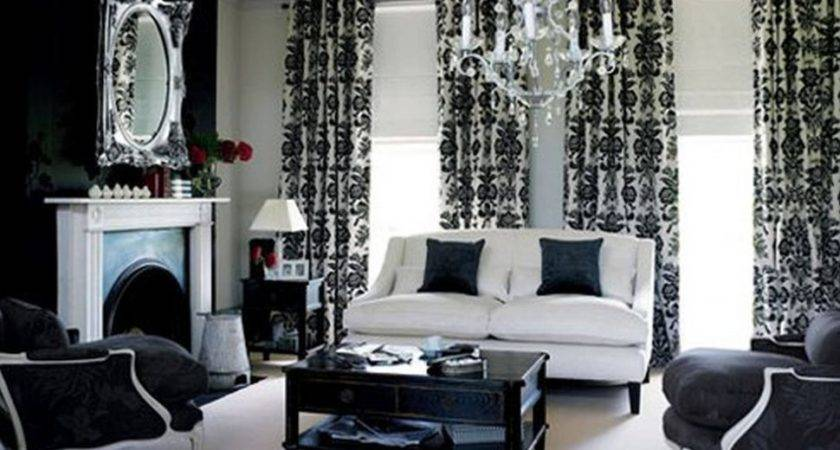 Grey Black White Living Room Ideas