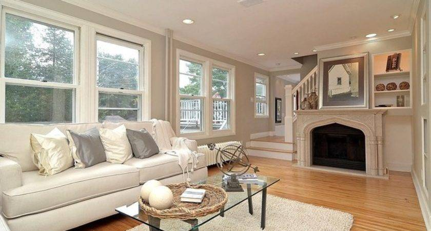 Grey Gray White Living Room Marble Fireplace