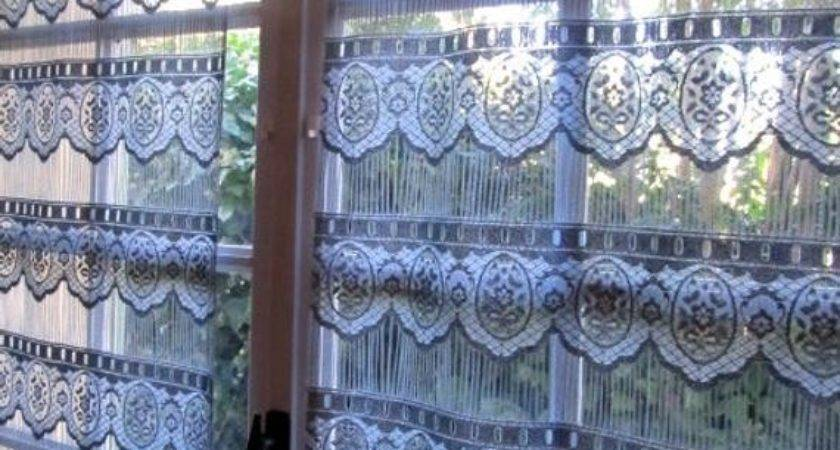 Grey Lace Curtains Slate Window Panels Linenandletters