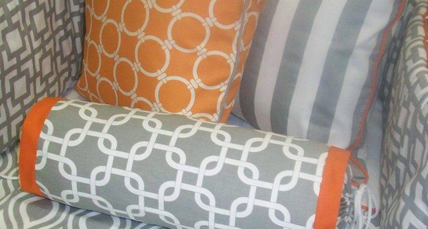 Grey Orange Bedding