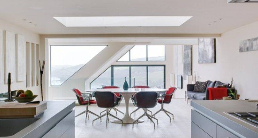 Grey Red Open Plan Dining Room Housetohome