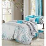 Grey Turquoise Bedroom Light Gray Teal Bedding