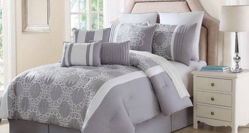 Grey White Comforter Sets Home Design Ideas